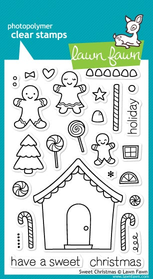 Lawn Fawn Sweet Christmas Cling Stamp Set