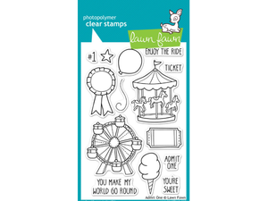 Lawn Fawn Admit One Cling Stamps