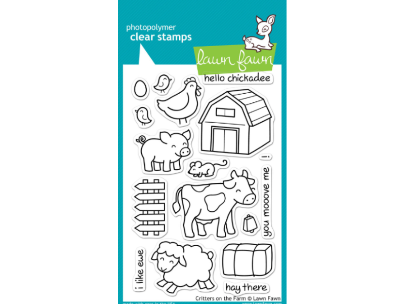 Lawn Fawn Critters on the Farm Cling Stamp