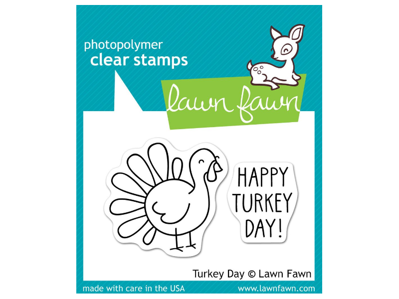 Lawn Fawn Turkey Day Cling Stamp Set
