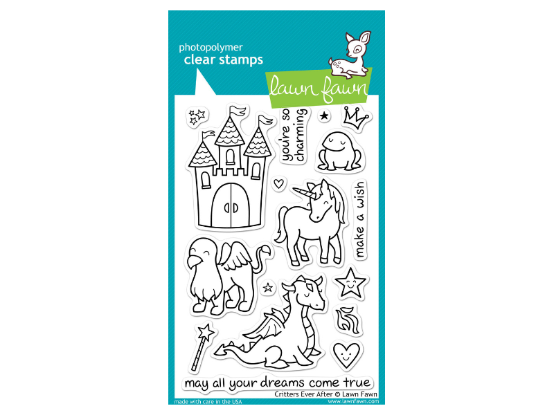 Lawn Fawn Crittters ever After Cling Stamps