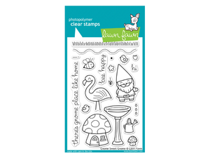 Lawn Fawn Gnome Sweet Gnome Cling Stamp Set