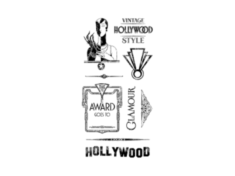 Graphic 45 Vintage Hollywood Collection Cling Stamp Sets