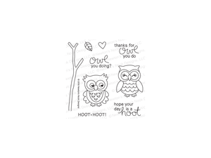 Newton's Nook What a Hoot Cling Stamps and Die Set