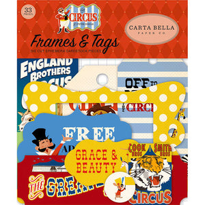 Carta Bella Paper - Circus Collection - Ephemera - Frames and Tags