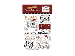 Echo Park Wise Men Collection Enamel Word and Phrase Stickers