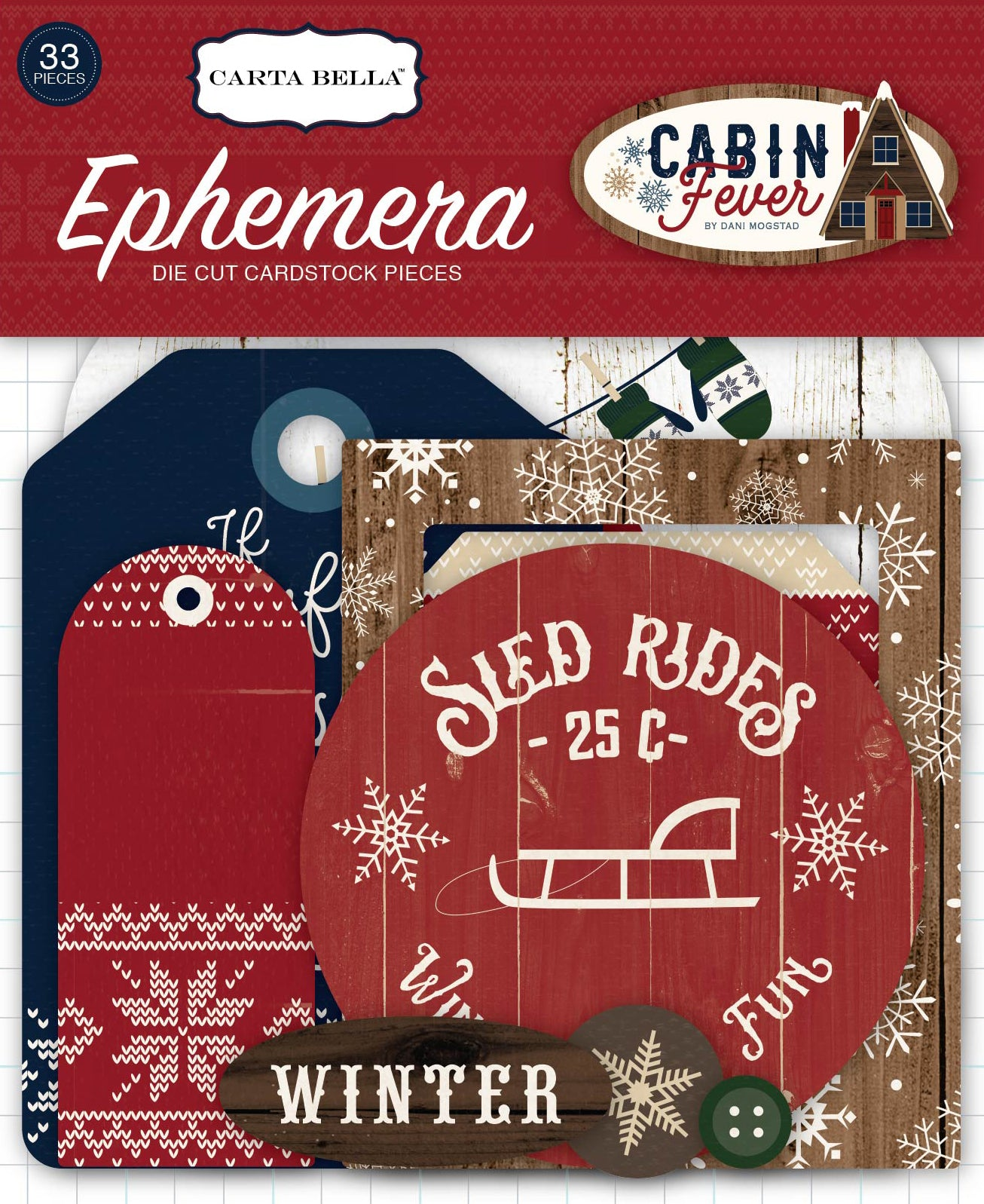 Carta Bella Cabin Fever Collection Ephemera Package