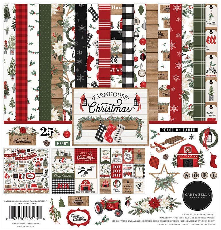 Carta Bella Paper - Farmhouse Christmas Collection - 12 x 12 Collection Kit