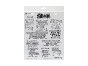 Ranger Dyan Reaveley Dylusions The Right Words Cling Stamp Set