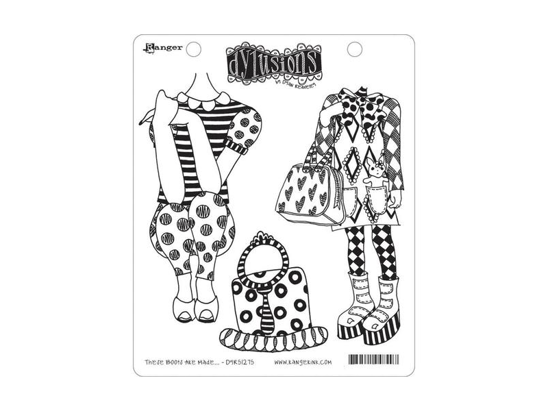 Ranger Dylusions These Boots Are Made Cling Stamps