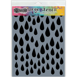 Dyan Reaveley Dylusions Raindrops Large Stencil