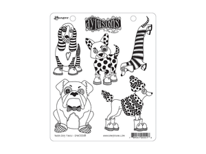 Ranger Dyan Reaveley Dylusions Puppy Dog Tails Cling Stamp Set