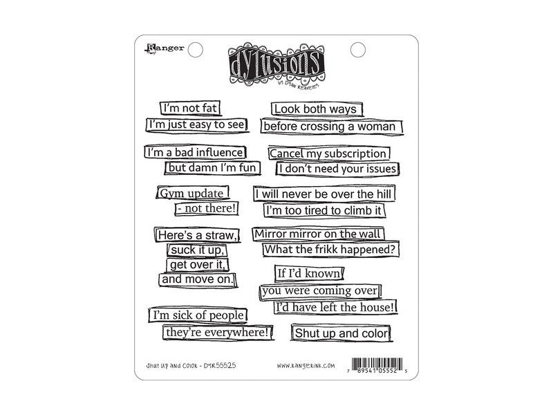 Ranger Dyan Reaveley Dylusions Shut up and Color Cling Stamp Set