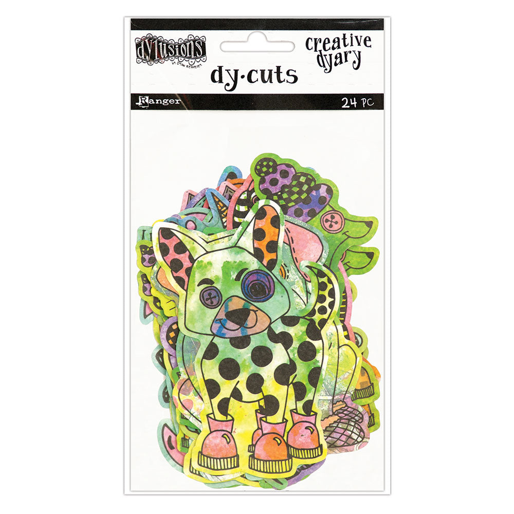 Ranger Ink - Dylusions Creative Dyary - Die Cut Cardstock Pieces - 4
