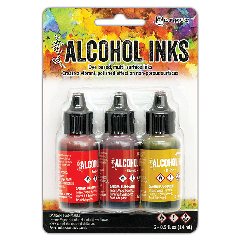 Ranger Ink - Tim Holtz - Alcohol Inks - 3 Pack - Orange Yellow Spectrum