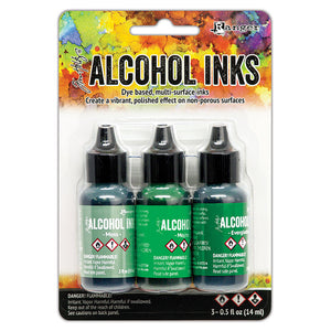 Ranger Ink - Tim Holtz - Alcohol Inks - 3 Pack - Mint Green Spectrum
