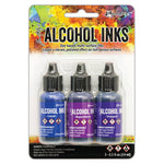 Ranger Ink - Tim Holtz - Alcohol Inks - 3 Pack - Indigo Violet Spectrum