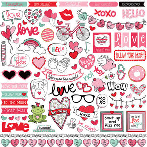 Photo Play Love Notes 12 x 12 Sticker Sheet