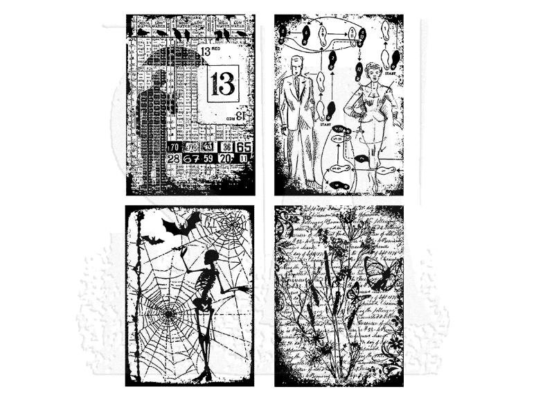 Stampers Anonymous Tim Holtz Cling Mount Stamps: Eclectic Collage -