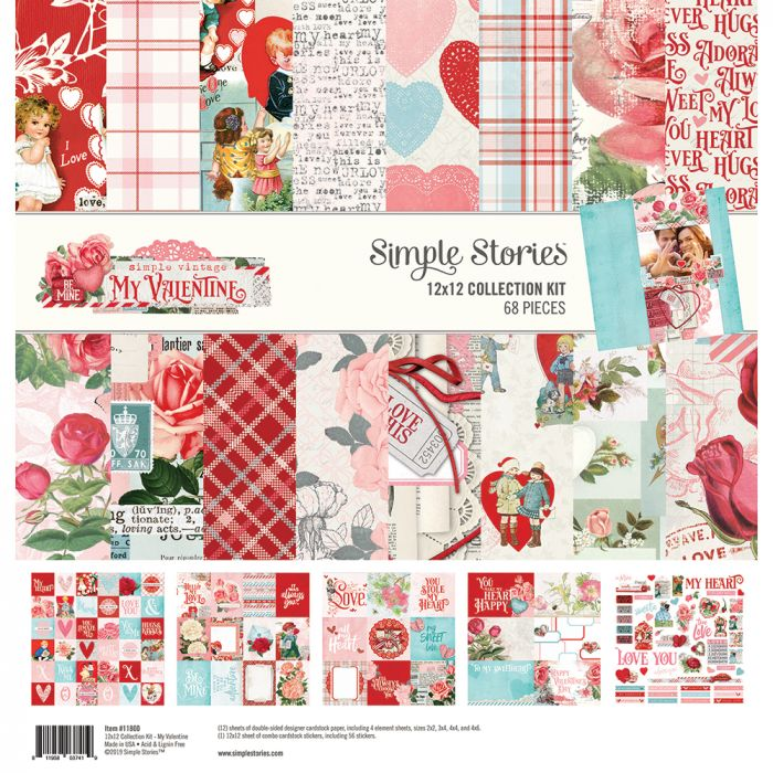 Simple Stories Simple Vintage My Valentine Essential Collection Kit