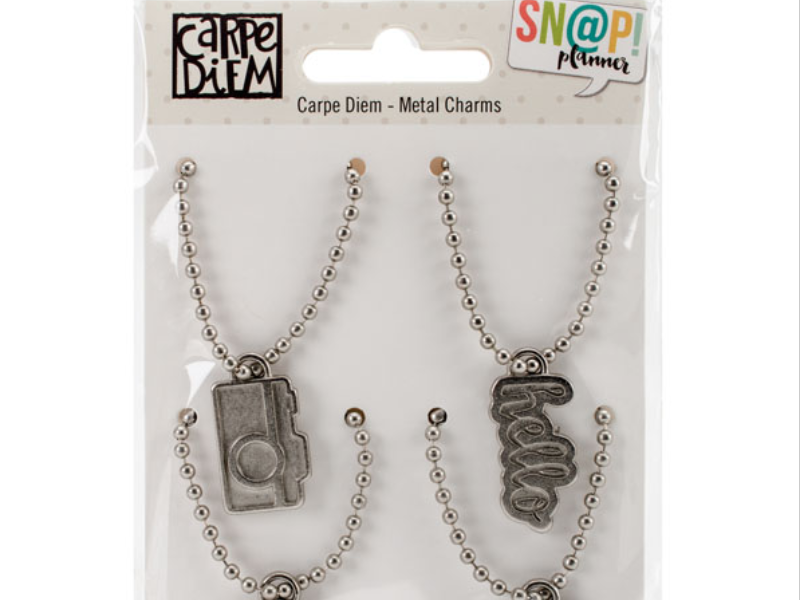Simple Stories Carpe Diem Planner Collection Metal Charms