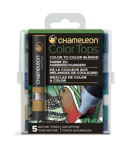 Chameleon Color Tops - 5 Set - NATURE TONES - Alcohol Based Mixing Chambers