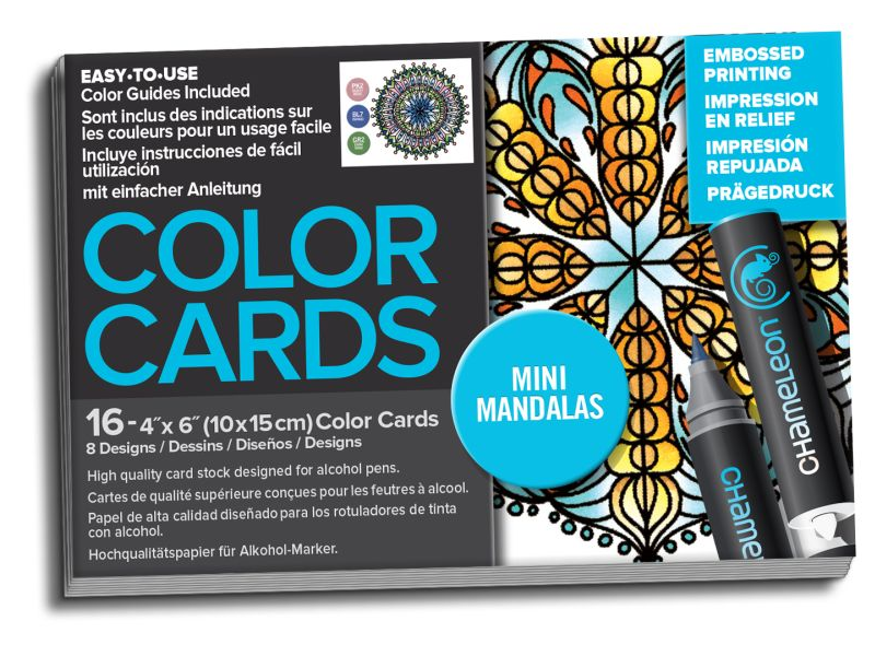 Chameleon Color Cards Embossed Cards