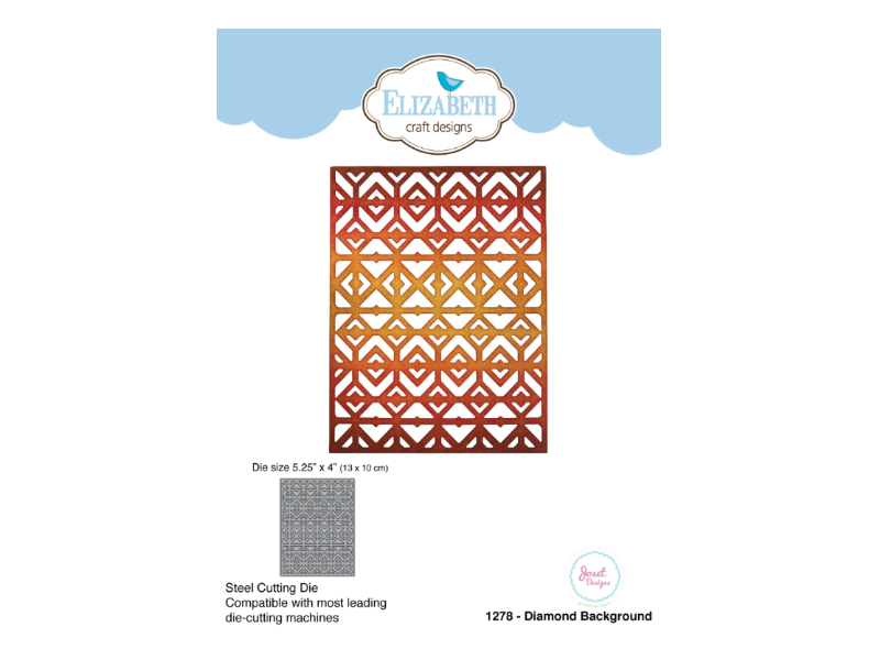 Elizabeth Craft Designs Diamond Background Designer Die Set