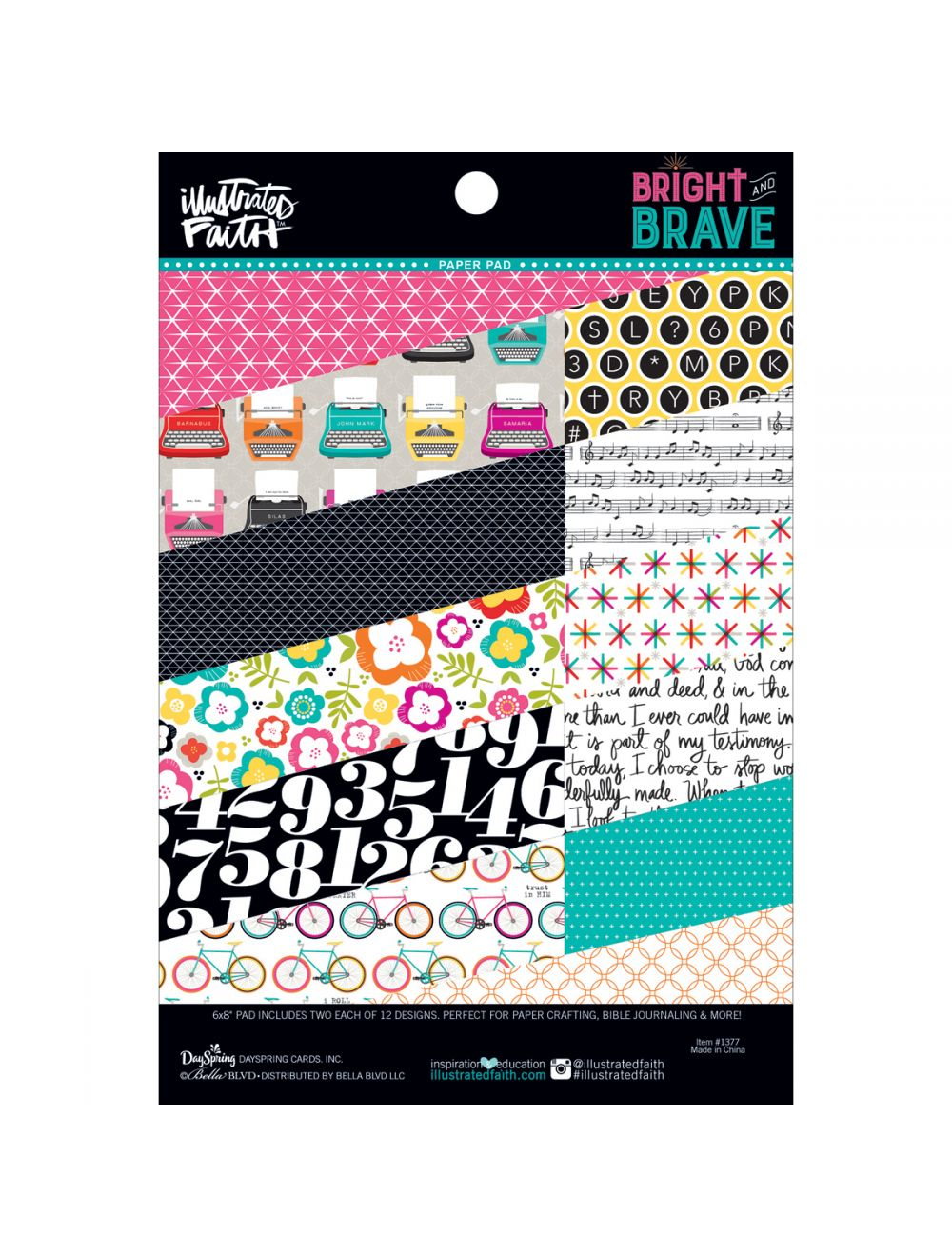 Bella Blvd Illustrated Faith Bright and Brave Pad