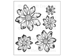 Heartfelt Creations Tattered Blossoms Cling Stamp