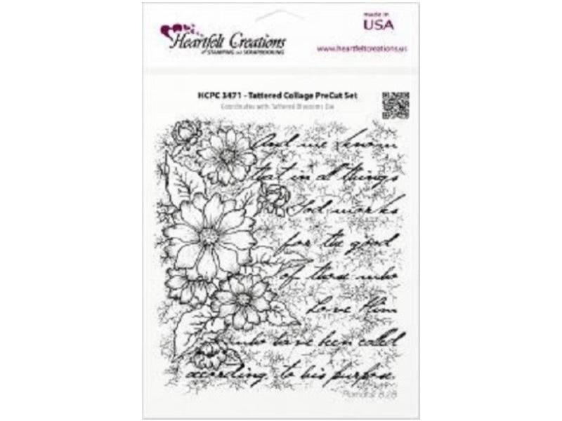 Heartfelt Creations Tattered Collage Background Cling Stamp