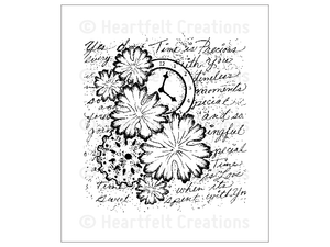Heartfelt Creations Majestic Collage Cling Stamp