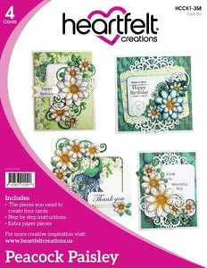 Heartfelt Creations Peacock Paisley Collection Card Kit