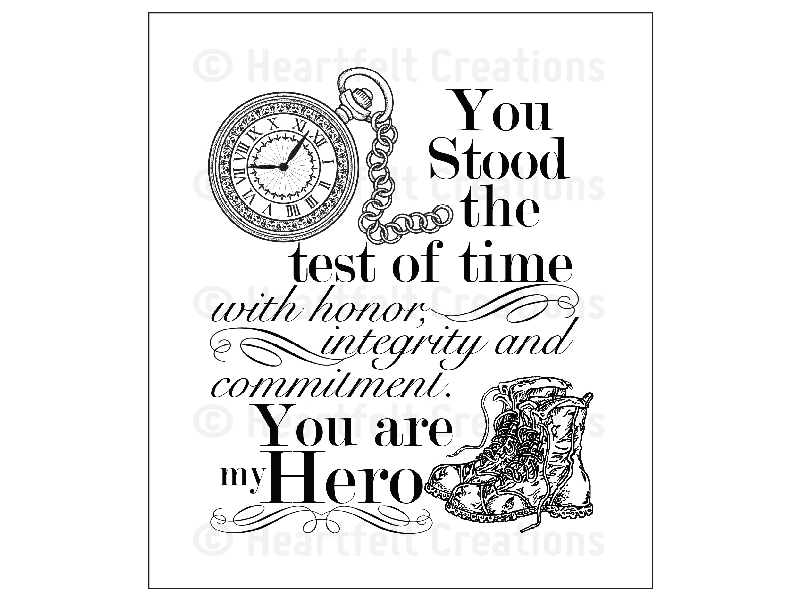 Heartfelt Creations My Hero Cling Stamp