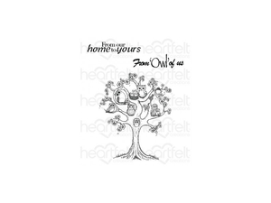 Heartfelt Creations Sugar Hollow Collection Tree Cling Stamp Set
