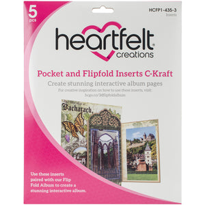 Heartfelt Creations Pocket and Flipfold Inserts - C