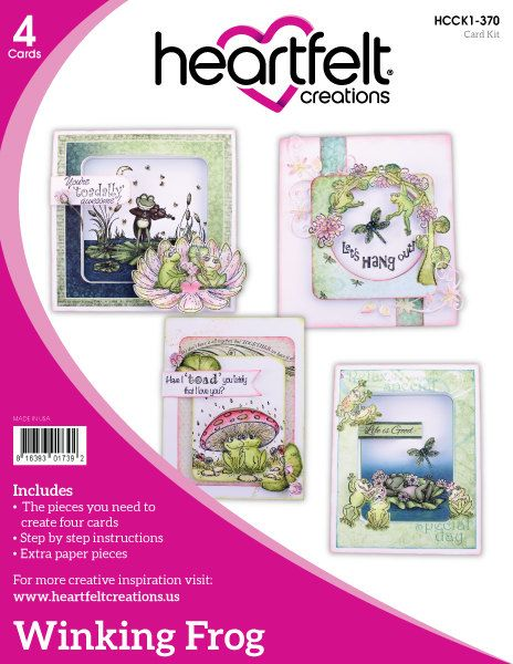 Heartfelt Creations Winking Frog Collection Card Kit