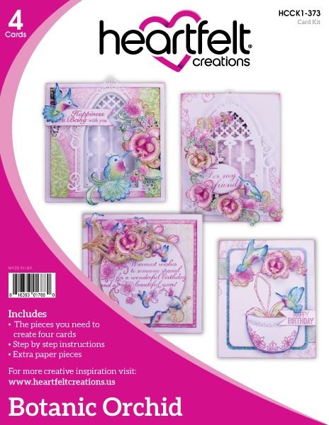 Heartfelt Creations Botanic Orchid Collection Card Kit