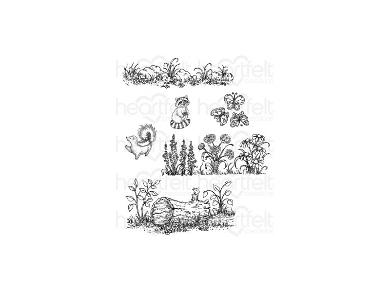 Heartfelt Creations Woodsy Collection Woodsy Wonderland Cling Stamp Set