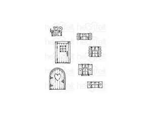 Heartfelt Creations Wildwood Collection Wildwood Cottage Cling Stamp Set