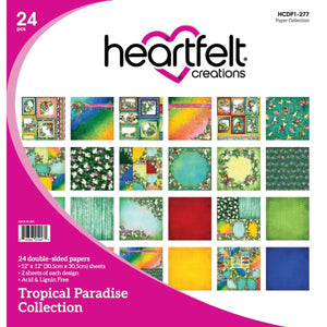 Heartfelt Creations Tropical Paradise Collection 12 x 12 Paper Pad