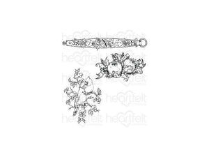 Heartfelt Creations Festive Holly Collection Holly Berry Jingle Designer Die and Cling Stamp Set
