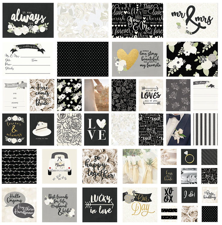 Simple Stories - Always and Forever Collection - SNAP Cards with Foil Accents