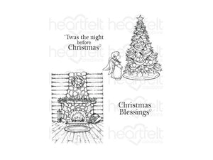 Heartfelt Creations Christmas Blessings Collection Cling Stamp