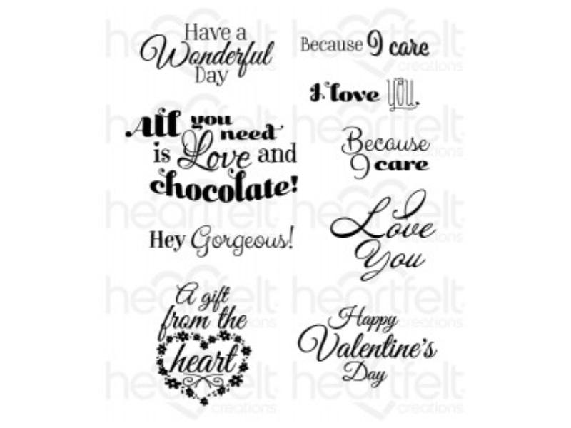 Heartfelt Creations Heartfelt Love Sentiments Cling Stamp