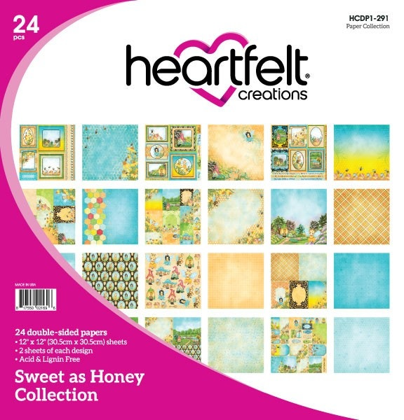 Heartfelt Creations Sweet as Honey Collection 12 x 12 Paper Pad