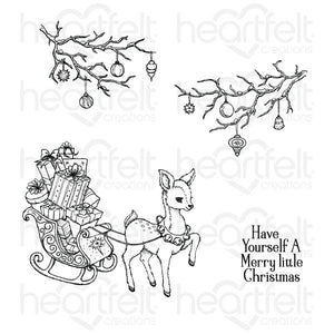 Heartfelt Creations Merry Little Christmas Cling Stamp Set