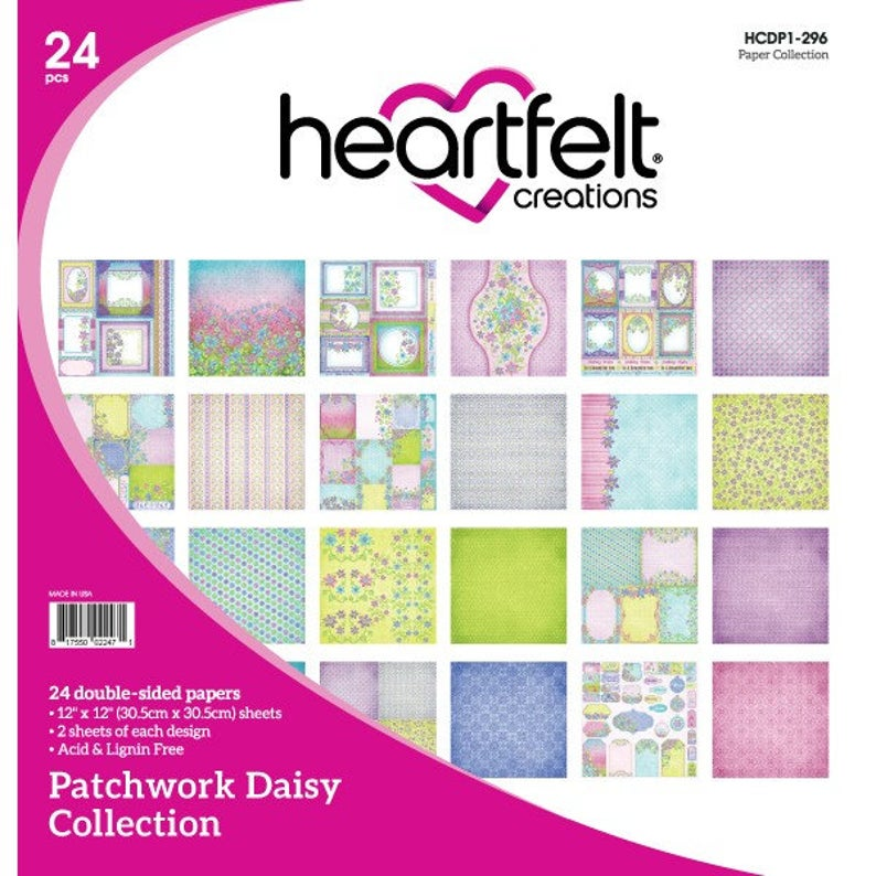 Heartfelt Creations Patchwork Daisy Collection Paper Pad