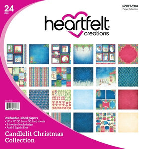 Heartfelt Creations Candlelit Christmas Paper Collection 12 x 12 Paper Pad