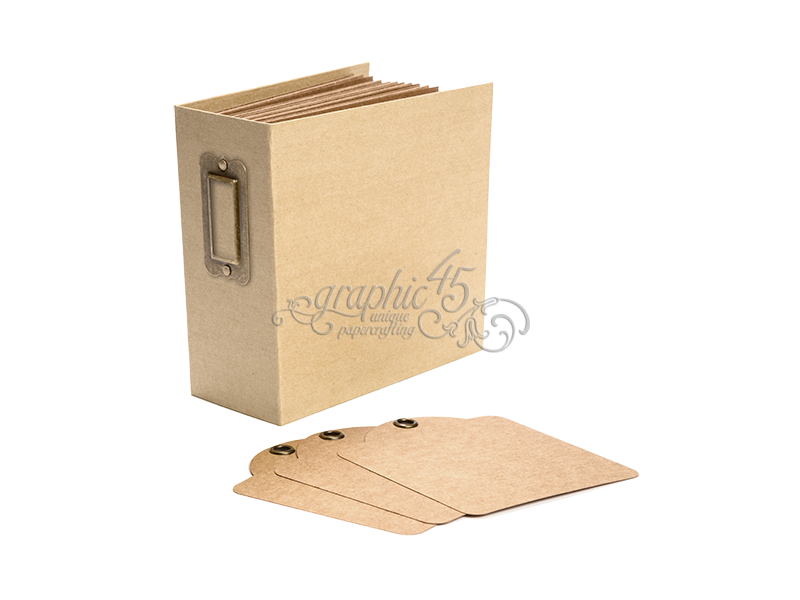 Graphic 45 Square Tag & Pocket Albums